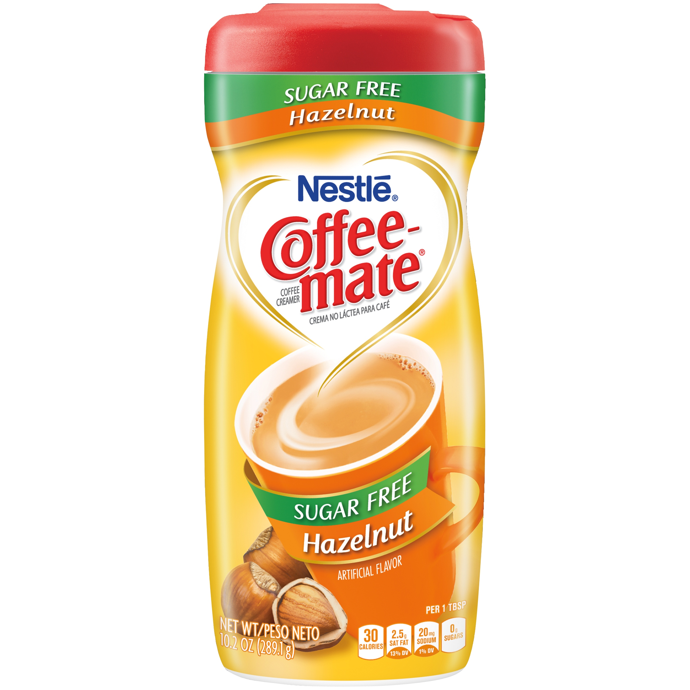 (3 pack) COFFEE MATE Sugar Free Hazelnut Powder Coffee Creamer 10.2 oz. Canister