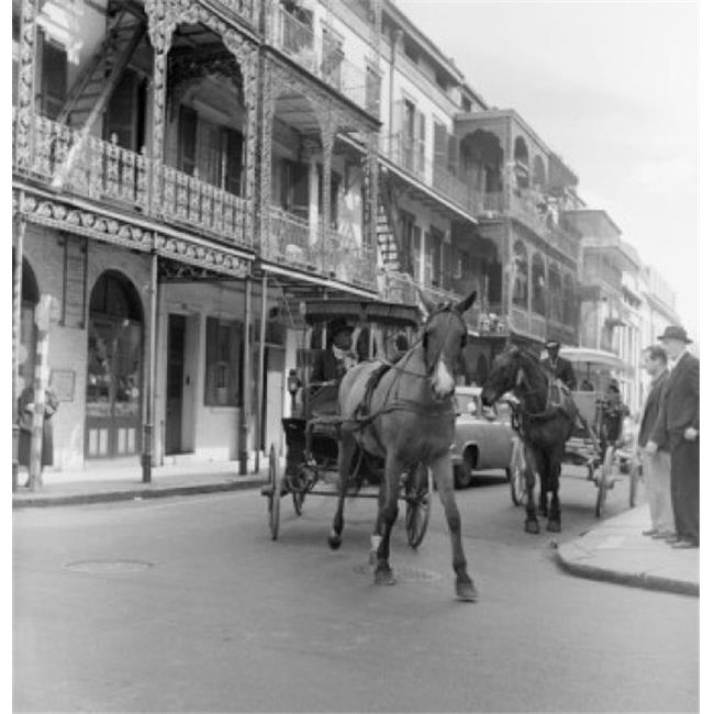 Posterazzi SAL255424434 USA Louisiana New Orleans French Quarter Street Scene with Horse Cart Poster Print - 18 x 24 in. - image 1 de 1