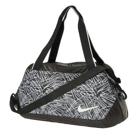 56f0e12b486b29 Nike Legend Club Print Carry All Duffel Bag-Black/Grey - Walmart.com