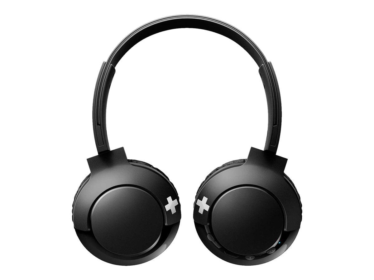 Philips Bass Shb3075bk Headphones With Mic On Ear Bluetooth Wireless Black Walmart Com Walmart Com