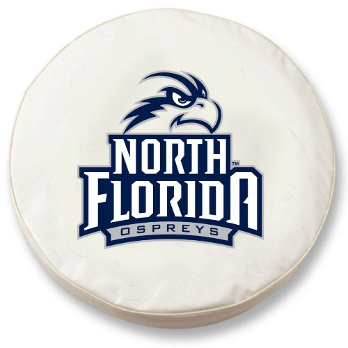 NCAA Tire Cover by Holland Bar Stool - North Florida Ospreys, White - 29.75'' x 8''