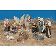 LB International 11 Piece Nativity Figures Christmas Decoration Set