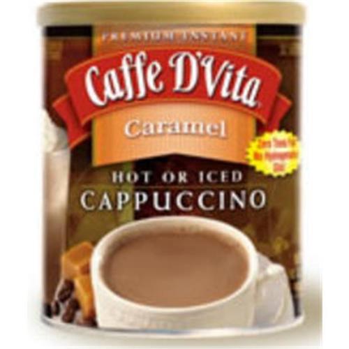 Caffe DVita F-DV-1C-06-CARM-NU Caramel Cappuccino 6 1lb canisters