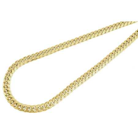 10K Yellow Gold Semi Hollow 6 MM Miami Cuban Link Necklace Chain 40 (Prs Se Custom 24 Semi Hollow Review)