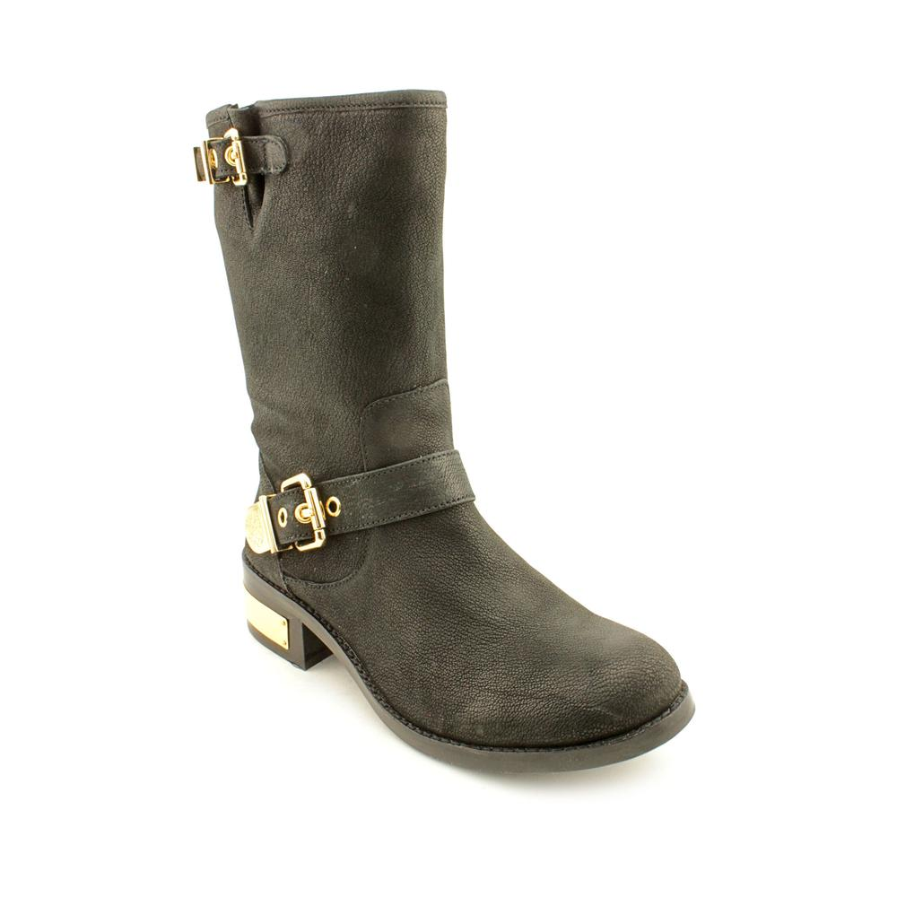 Vince Leather Round-Toe Boots
