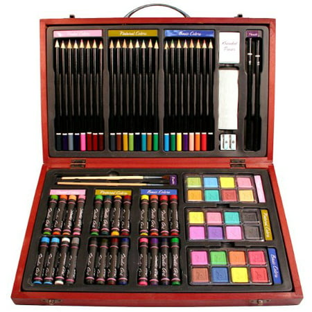 Nicole Studio Art & Craft Supplies Set in Wood Box for Drawing and Painting, 79 Piece, Multi Colors Nicole Studio Art & Craft Supplies Set in Wood Box for Drawing and Painting, 79 Piece, Multi Colors