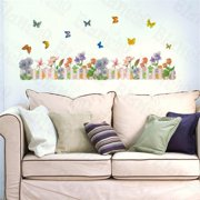 HL-5651 Floral Dream - Large Wall Decals Stickers Appliques Home Decor