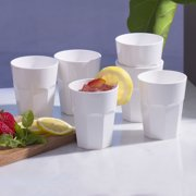 Cupture The Small Cup Plastic Tumblers, 12 oz, 6-Pack (White) by Cupture
