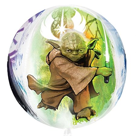 orbz xl star wars yoda han solo droids vader mylar foil balloon party decoration