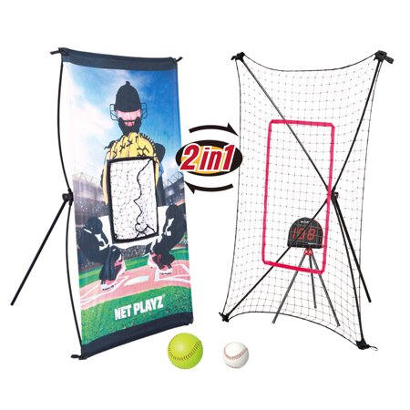 Net Playz Baseball Smart Trainer Combo Radar, Pitchback And (Best Dot Net Training Videos)