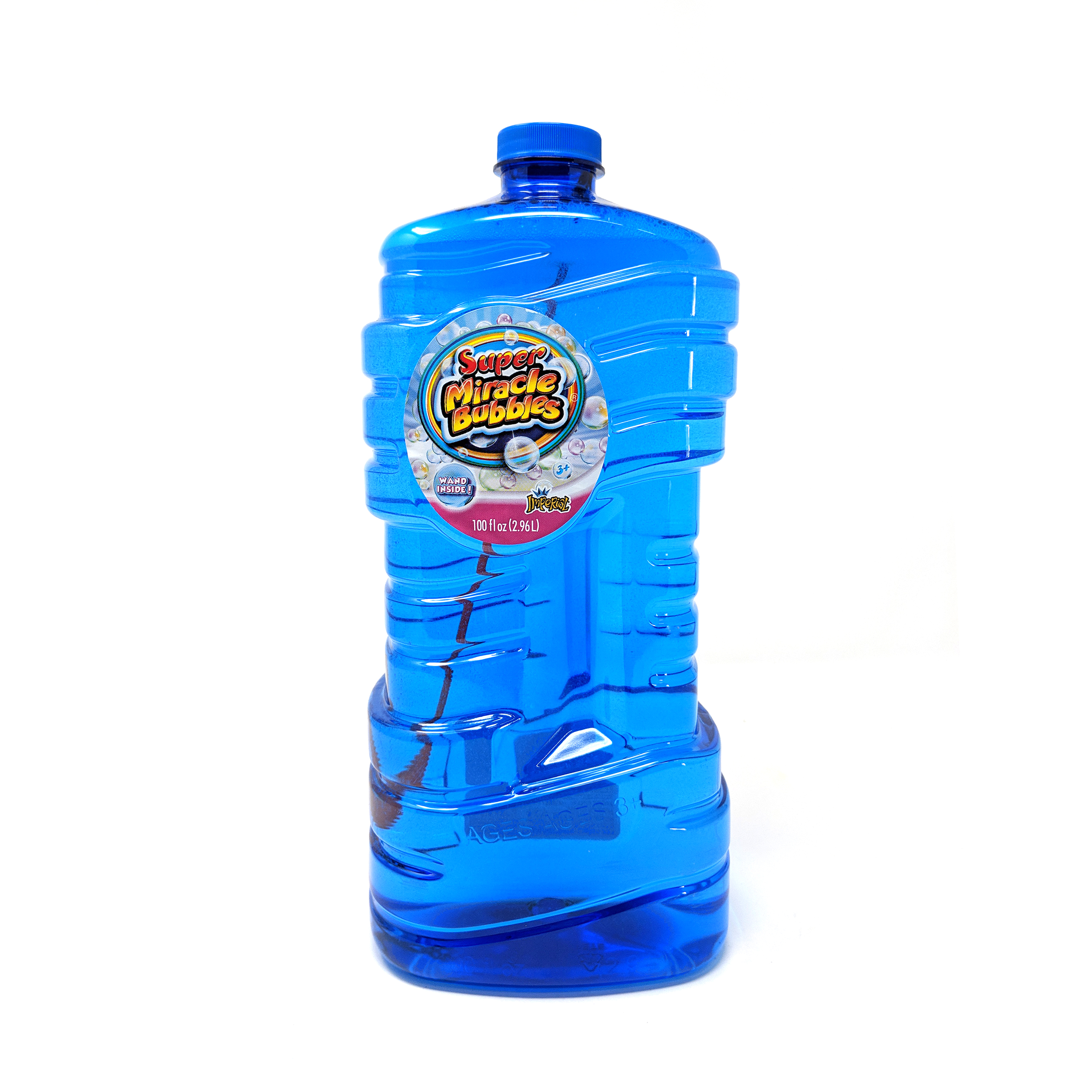 Imperial® Toy Super Miracle® Bubbles With 100 oz Bubble Solution, 1 Bottle Per Order, Color May Vary