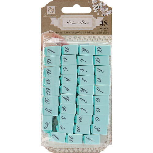 "Prima Press Alphabet Stamp Set, 1/4"" Characters"