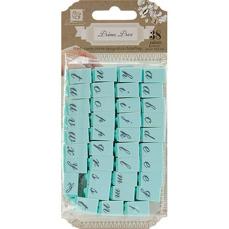 Prima Marketing Clear Stamp - Prima Press Alphabet Stamp Set, 1/4