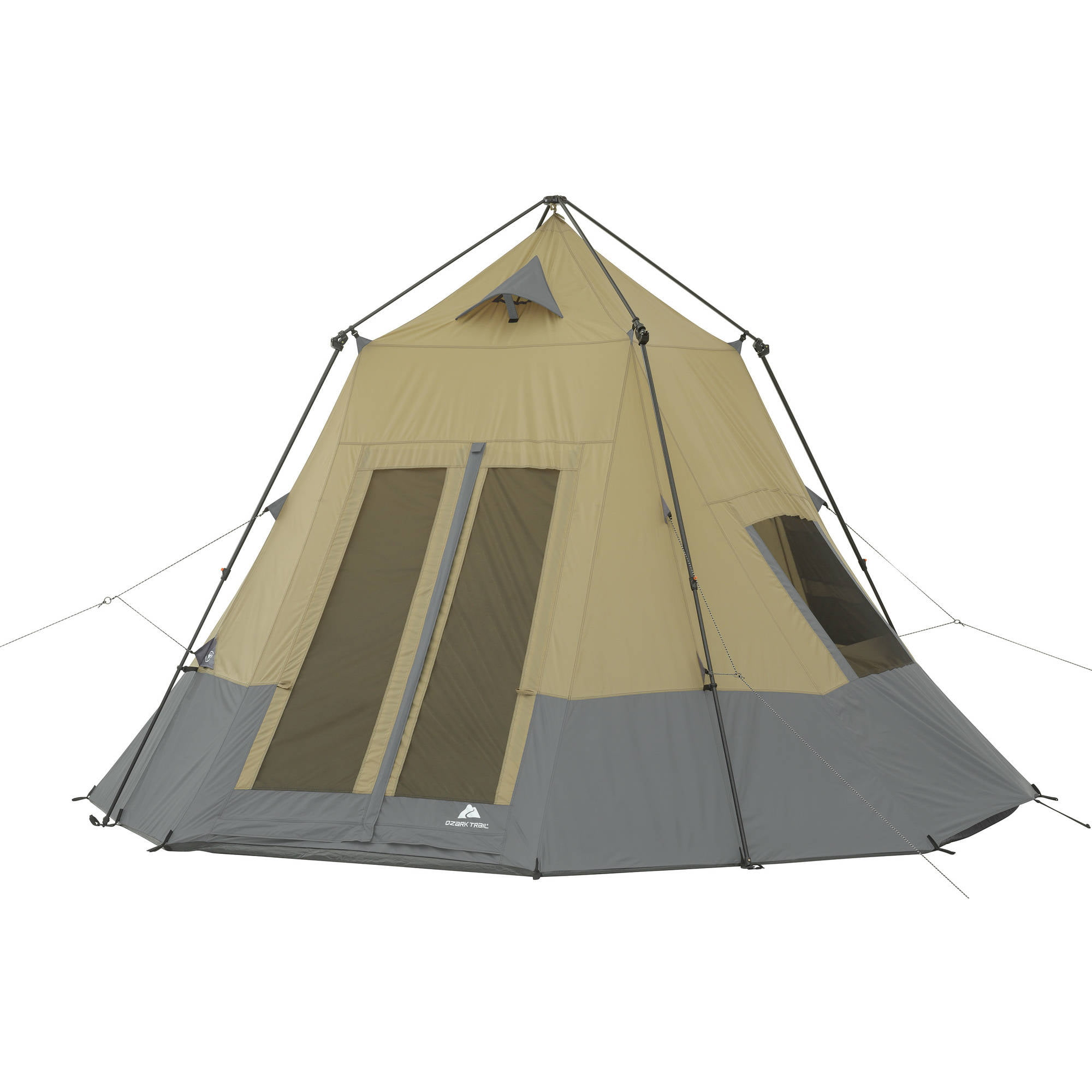 Instant Tepee Tent Sleeps Stakes Included 7 Easy 2 Minute Setup No 12 Ft x 12  sc 1 st  eBay & Instant Tepee Tent Sleeps Stakes Included 7 Easy 2 Minute Setup No ...