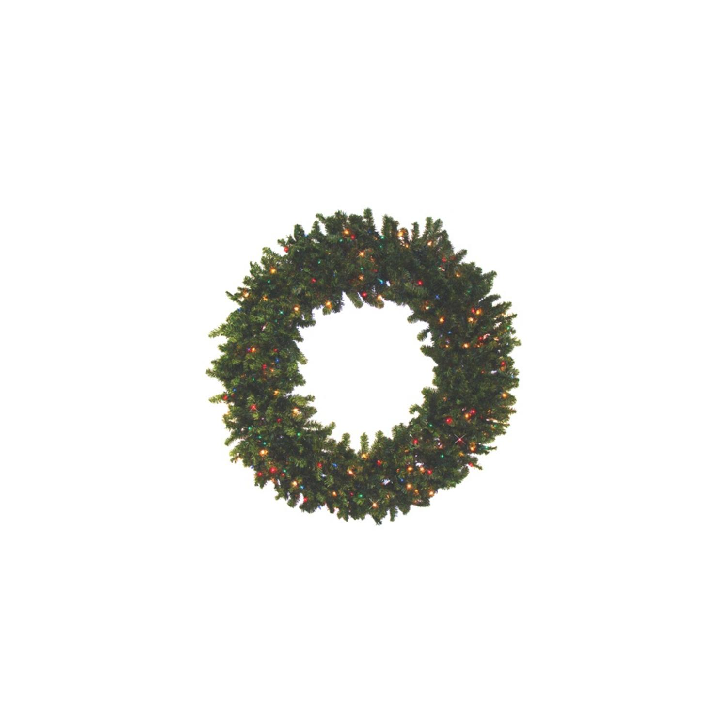 "84"" Pre-Lit Camdon Fir Artifical Wreath - Mutli Color LED Lights"