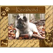 Giftworks Plus DBA0104 Keeshond, Alder Wood Frame, 4 x 6 In