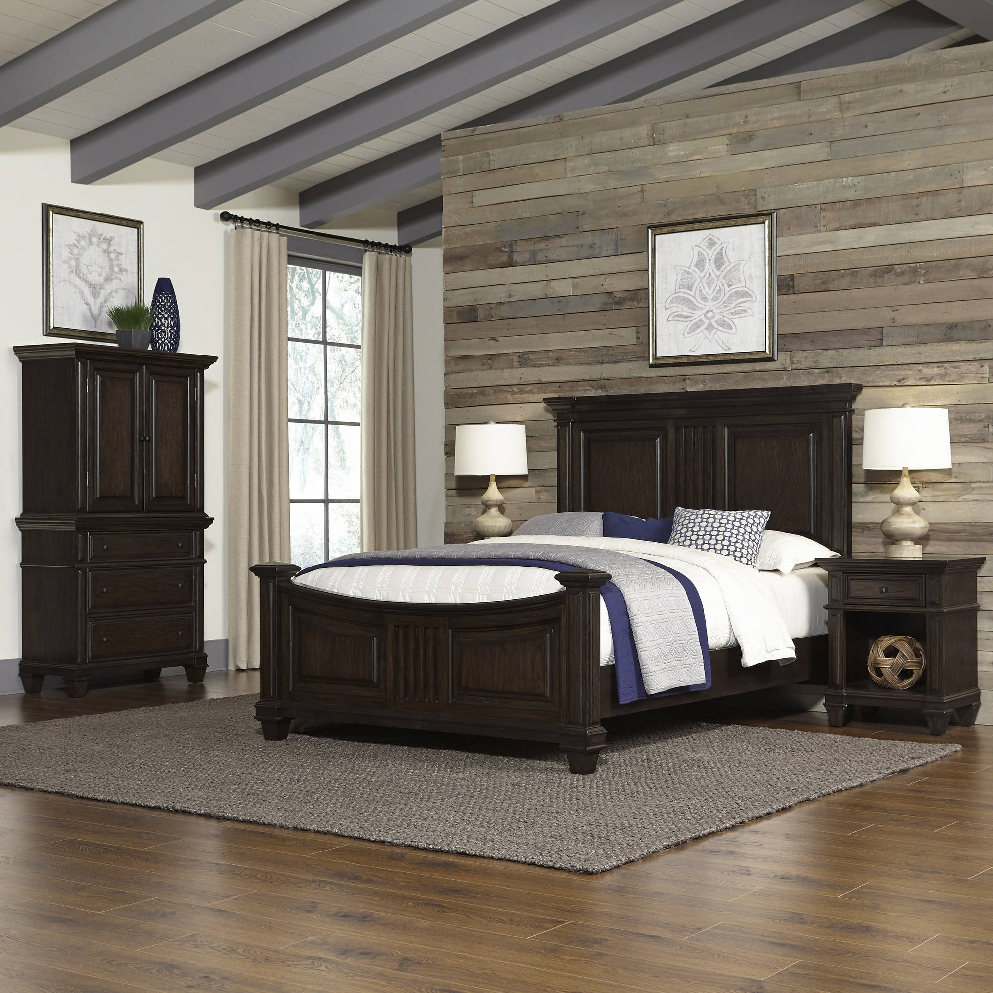 Prairie Home Queen Bed, Two Night Stands, and Chest