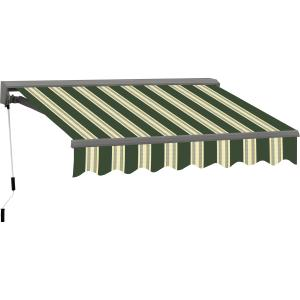 8FT C SERIES SEMI-CASSETTE MANUAL RETRACTABLE AWNING 65FT PROJ