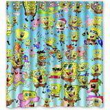 Ganma Funny Cartoon Spongebob Squarepants Shower Curtain Polyester Fabric Bathroom Shower Curtain 66x72 inches (Spongebob Squarepants Spongebob Curtain)