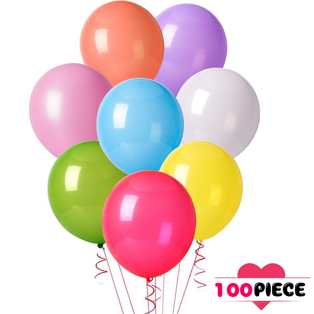 100pcs - Party Balloons for Birthday, Graduation, Parties, Weddings, Baby Shower, Decoration