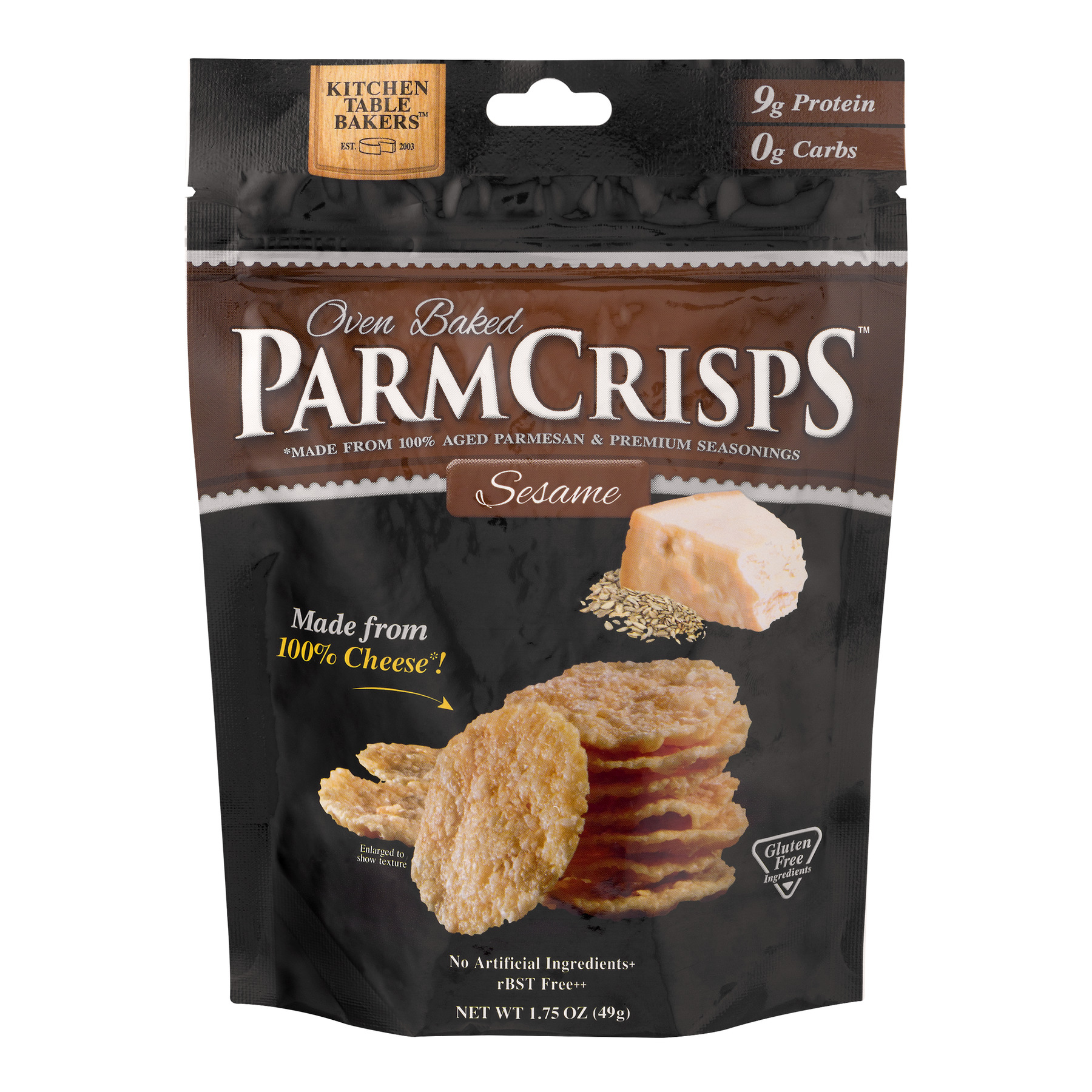 "gourmet all aged parmesan cheese ""mini"" crispskitchen"