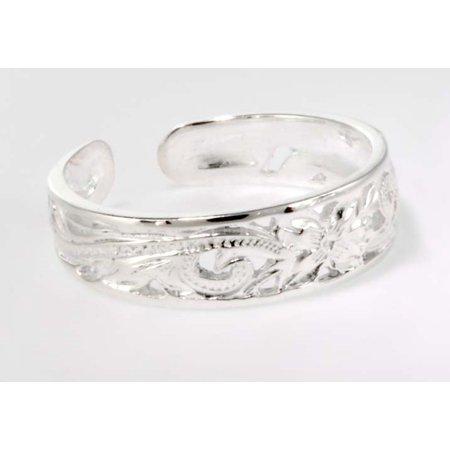 Hawaiian Jewelry - R.H. Jewelry Sterling Silver Hawaii Toe Ring Flower Toering