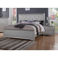 Contemporary White Tufted Queen Size Bedroom Set 3Pcs McFerran B508