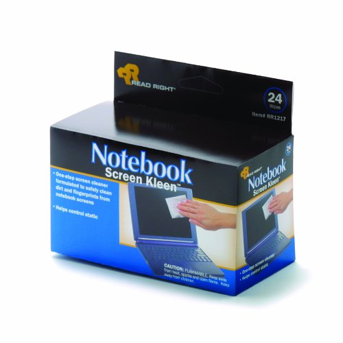 Advantus Corp. Read Right Notebook Screenkleen Pads, Cloth, 2 1/2 X 5 1/4, 24/Box (Set of 2)