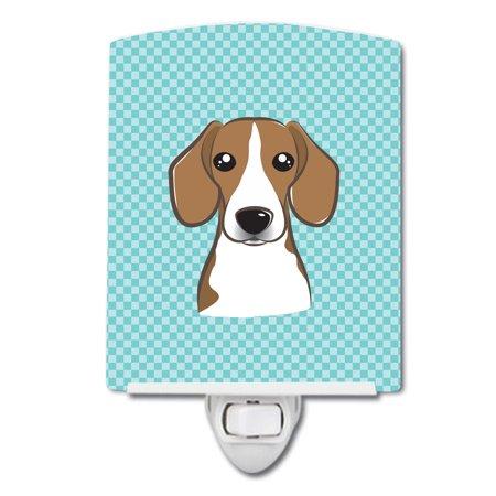 Checkerboard Blue Beagle Ceramic Night Light