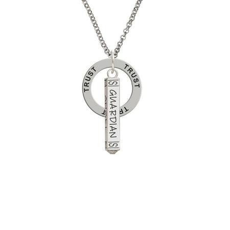 Guardian Angel Bar Trust Affirmation Ring Necklace - Guardian Angel Necklace
