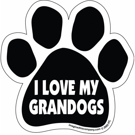 I Love My Granddogs Paw Magnet Dog Cat 5.5