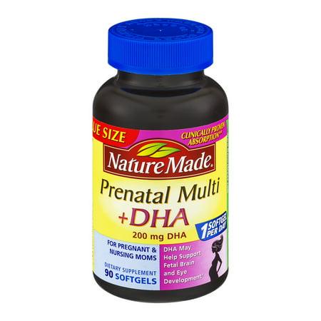 Nature Made prénatale multi + DHA 200mg Complément alimentaire gélules - 90 CT