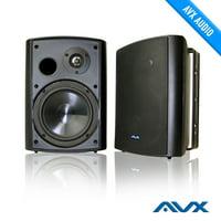 "Passive 6.5"" Outdoor Weatherproof Patio Speaker (Black Pair) PSP-W1 - by AVX Audio"
