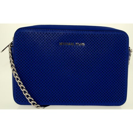 b3904c6dfd1b Michael Kors - Michael Kors Women's Jet Set Travel Large Perforated Leather  Crossbody Leather Cross-Body Satchel - Walmart.com