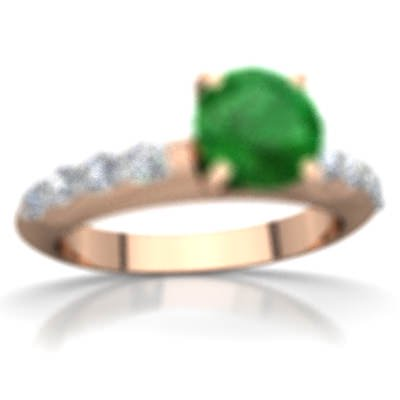 940198fd5e467 Emerald Engagement Ring in 14K Rose Gold