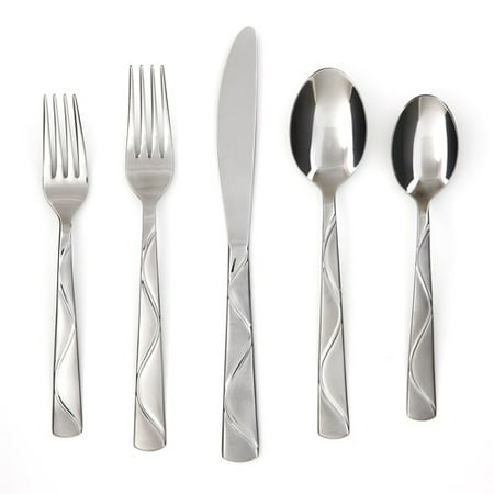 Cambridge Silversmiths Boa Frost Flatware Set, 20 Piece