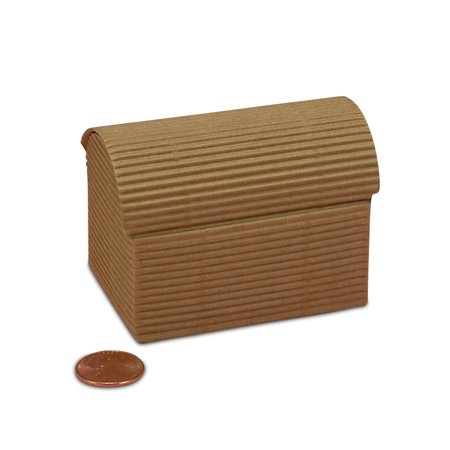 Kraft Mini Treasure Chest Boxes | Quantity: 20 | Width: 1 3/4