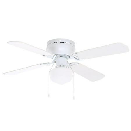 Littleton 42 in. LED Indoor White Ceiling Fan with Light Kit UB42S-WH-SH - New