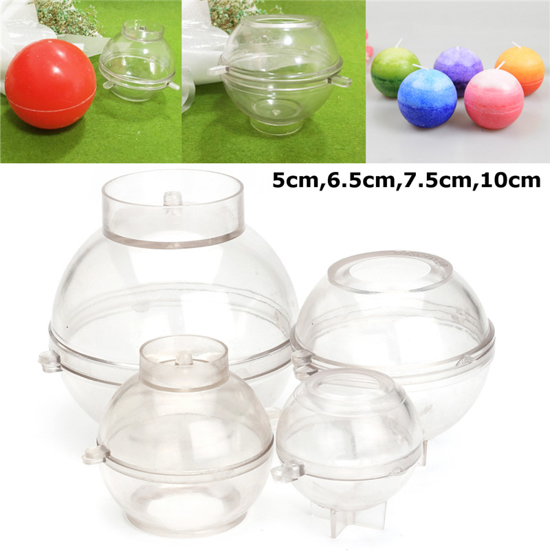 Round Sphere Plastic Candle Making Mould DIY Candle Soap Mould Mold 10cm