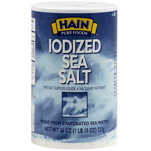 Hain Iodized Salt, 26 oz (Pack of 12)