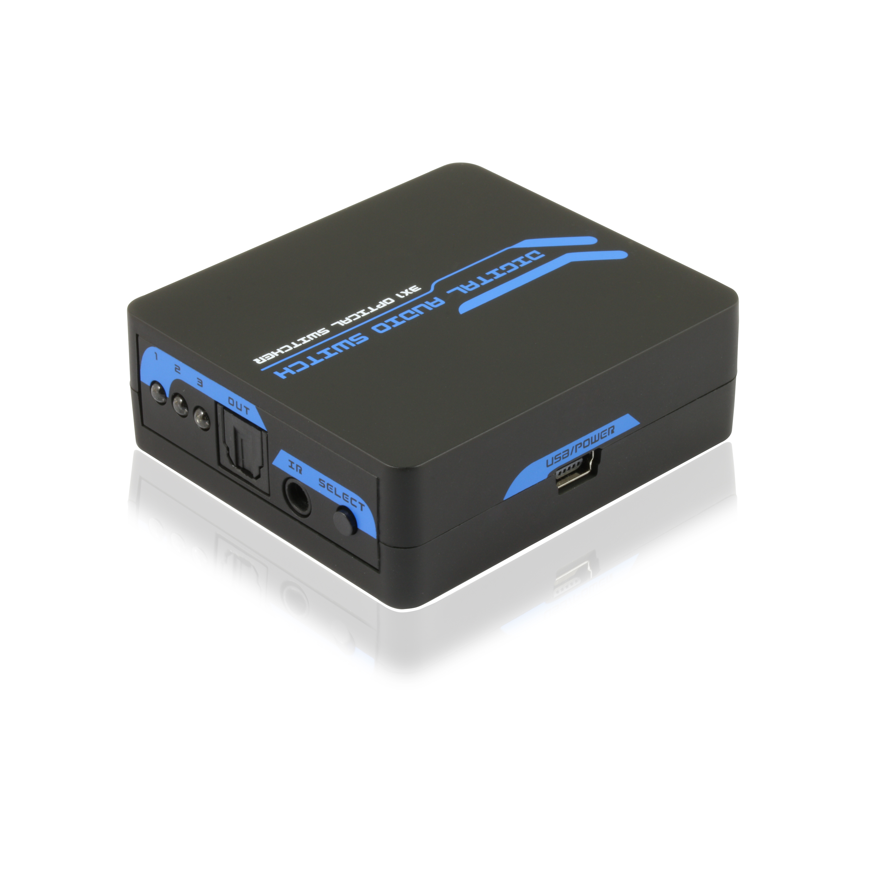 Toslink SPDIF Digital Optical Audio Switch with Remote Co...