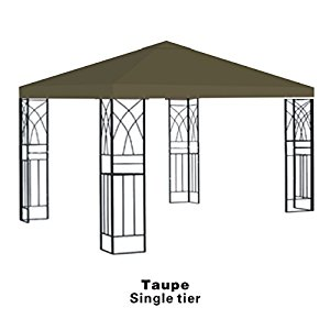 10x10' Replacement Canopy Top Patio Pavilion Gazebo Sunshade Polyester Cover-Single Tier by Supplier Generic