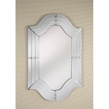 Venetian Modern Shaped Wall Mirror with Cut Glass Mirror Frame ...
