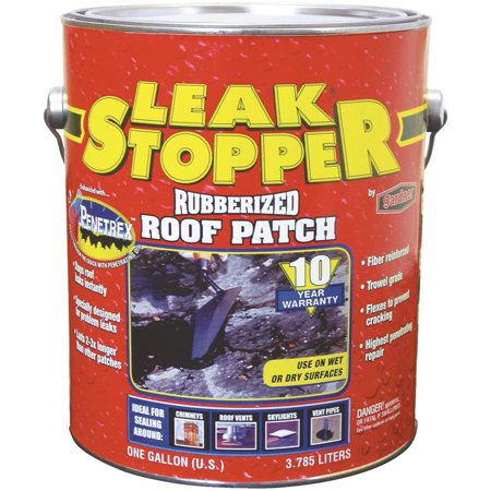 Black Leak Stopper Rubberized Roof Patch Walmart Com