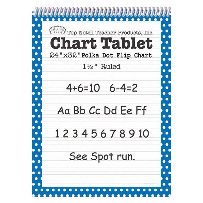 POLKA DOT CHART TABLET BLUE 1.5 RULED