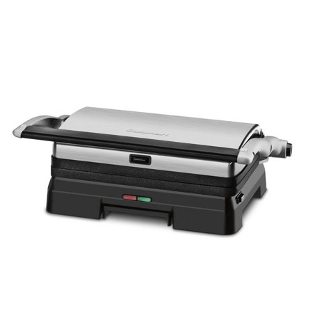 - Cuisinart Electric Griddler 3-in-1 Grill and Panini Press with Large Double Cooking Surface, Dishwasher Safe Plates with Adjustable Front Feet