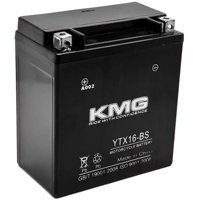 KMG YTX16-BS Battery For Kawasaki 1600 VN1600 Vulcan Mean Streak 2004-2009 Sealed Maintenance Free 12V Battery High Performance SMF OEM Replacement Powersport Motorcycle ATV Snowmobile Watercraft