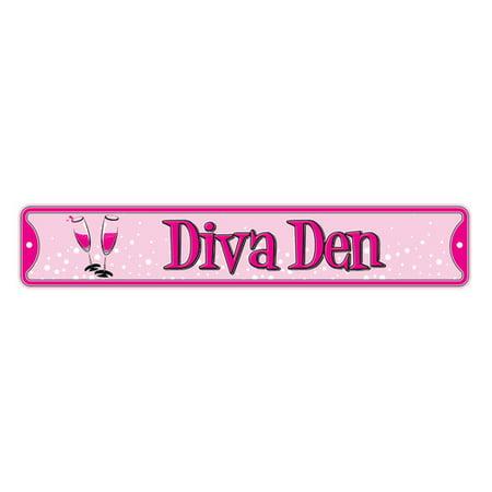 Authentic Street Signs Diva Den Wall D Cor Walmartcom