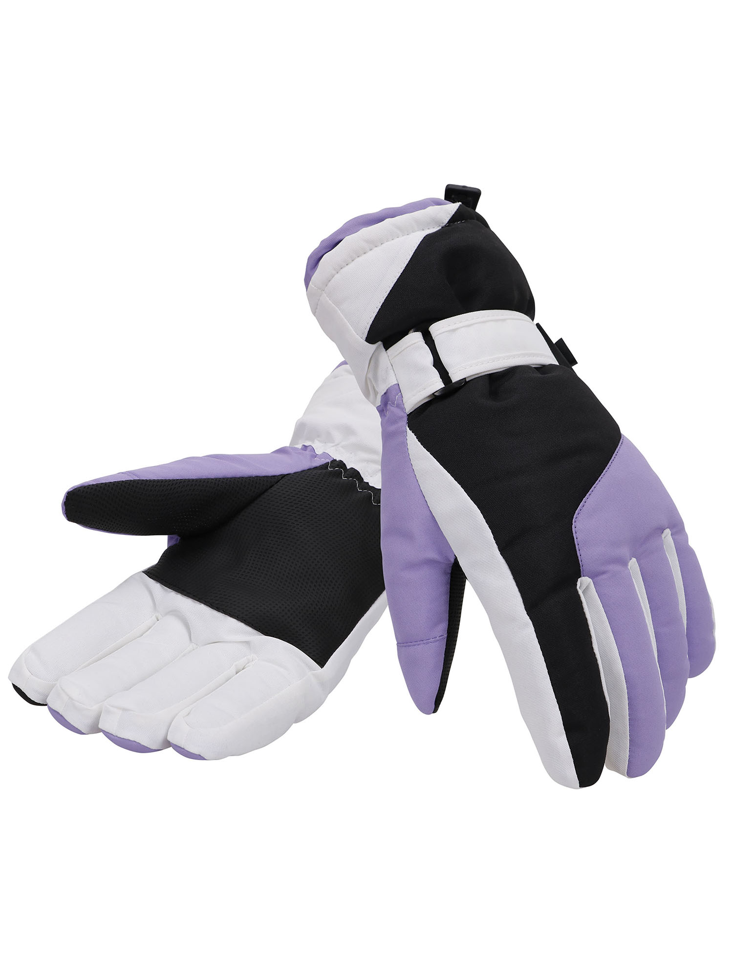 Simplicity Women's Thinsulate Lined Waterproof Outdoor Ski Gloves, M, Purple