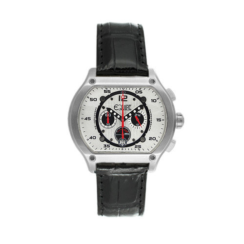 Equipe Dash Men's Watch with Silver Case and White Dial
